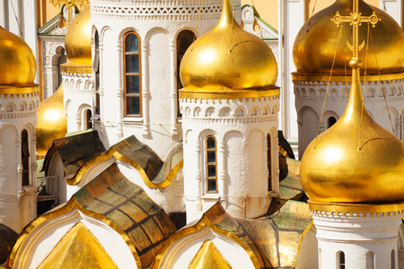 annunciation: Close up view of Annunciation Cathedral cupola