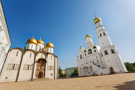 bell tower: Assumption Cathedral and Ivan the Great Bell Tower Stock Photo