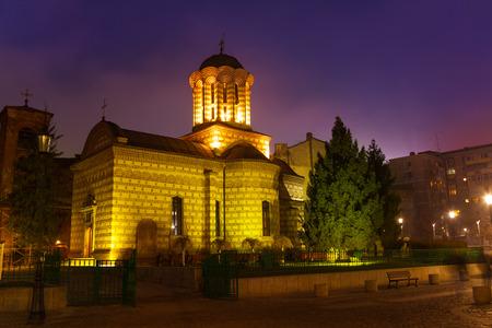 anton: Biserica Sfantul Anton at night in Bucharest