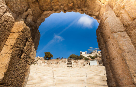 close up view: Arch close up view, Odeon of Herodes Atticus