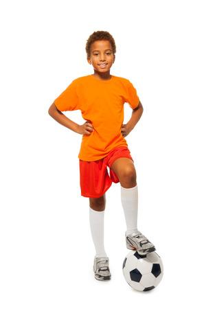 Geïsoleerd Weinig Afrikaans voetballer jongen