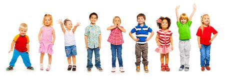 Combination of little kids standing isolated Foto de archivo