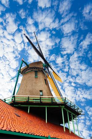 zaandam: Old windmill in Zaandam, Netherlands