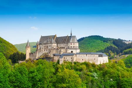 Montagne Vianden Lussemburgo e foreste Archivio Fotografico - 36473884
