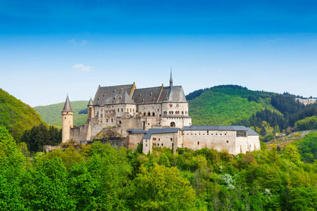 benelux: Vianden Luxembourg mountains and forests Stock Photo