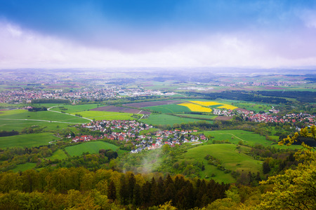 baden wurttemberg: Picturesque view of small town from Hohenzollern Stock Photo