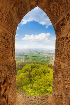 loophole: View from stoned loophole window of Hohenzollern