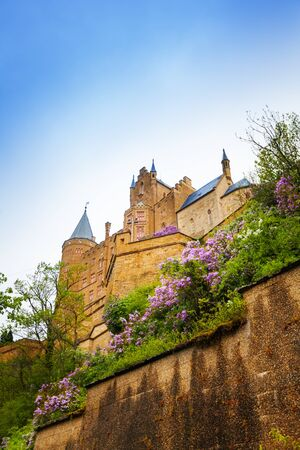 burg: The view from below of Hohenzollern castle