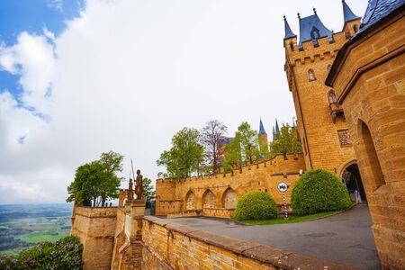burg: Inner yard view of Hohenzollern castle in summer