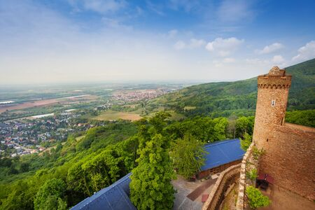 hesse: Panorama from Auerbach castle tower, Germany