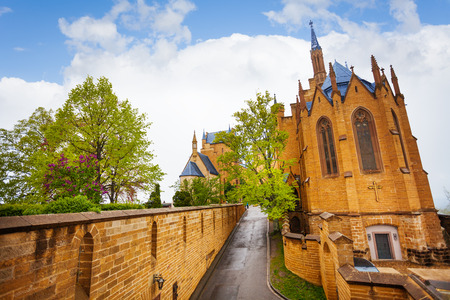 burg: The beautiful Hohenzollern castle from inner yard Editorial