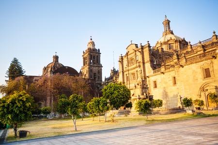 city square: Mexico City Metropolitan Cathedral