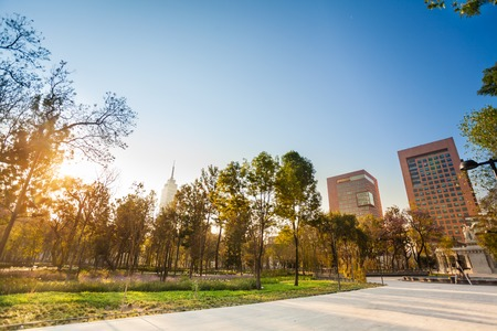 Central Alameda park in Mexico city downtown Stock Photo
