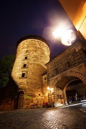 closer: Closer view of Kaiserburg with tower,  Nuremberg Stock Photo
