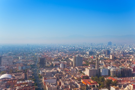 city center: Mexico capital city from Torre Latinoamericana Stock Photo