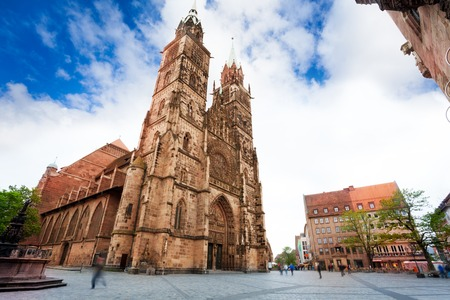 nuremberg: The view of St. Lawrence church during summer