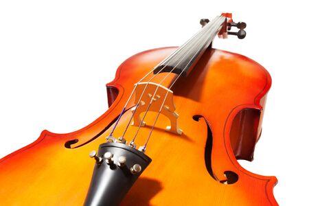 musica clasica: Violoncello con el puente, diapasón y F-agujeros Foto de archivo