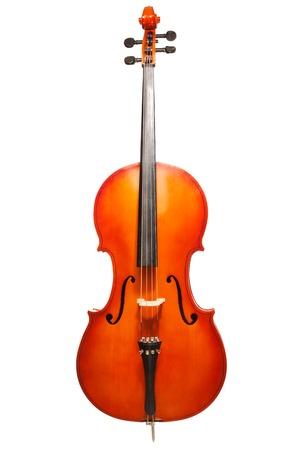 violoncello: Violoncello standing on the white background