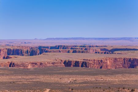 colorado river: Beautiful view of Colorado river canyons, Canyonlands National Park, USA during sunny summer day Stock Photo