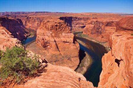 horse shoe: Horse shoe canyon Colorado river, Canyonlands National Park, USA during sunny summer day Stock Photo