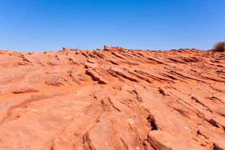 colorado river: View of desert near Colorado river canyons, Canyonlands National Park, USA during sunny summer day