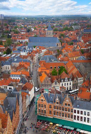 bruges: View from Belfry of Bruges during summer time, Bruges, Belgium