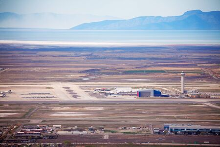 salt lake city: View of airport during day time in Salt Lake City, USA Stock Photo