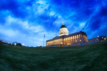 salt lake city: Utah Capitol building during night time in Salt Lake City, USA