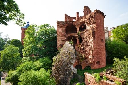 south east: Schloss Heidelberg ruined south east tower in Heidelberg, Germany