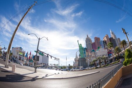 tropicana: Las Vegas, United States- March 27, 2015:  New York Hotel and Casino from Tropicana Ave during the day Editorial