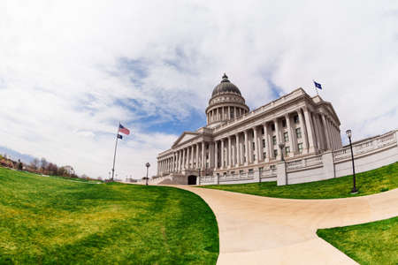 salt lake city: Beautiful Utah Capitol building during day time in Salt Lake City, USA