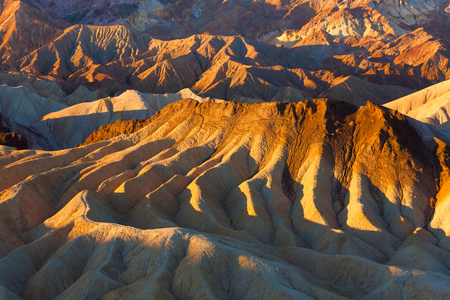 point of view: Mountain cream like patterns from Zabriskie Point View Death valley, California