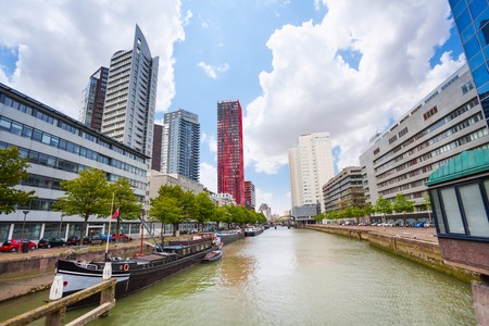 during the day: Scheepmakershaven street and canal view during day time in Rotterdam, Netherlands