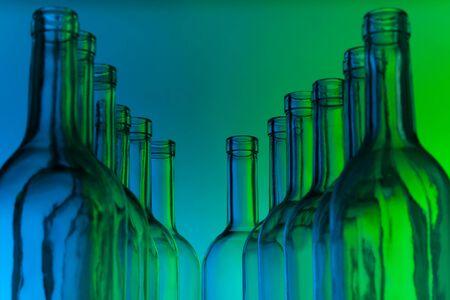 bottlenecks: Dozen crystal bottlenecks of empty wine bottles