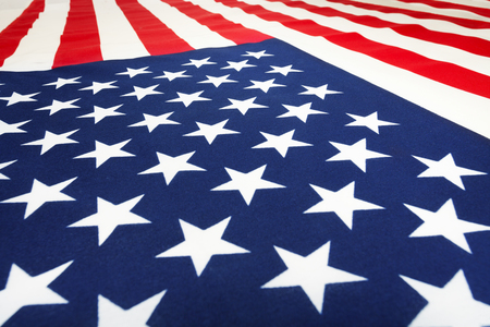 laying forward: American flag laying on flatness and going forward Stock Photo