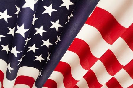 Pleated United States of America national flag Stock Photo