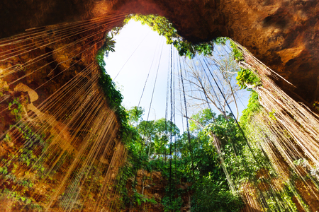 Cenote with lovely opening in the form of heart