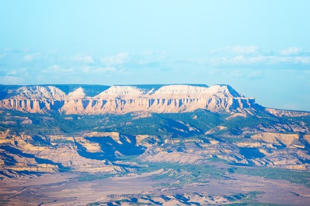 Panoramic view of Bryce Canyon in the haze, Utah
