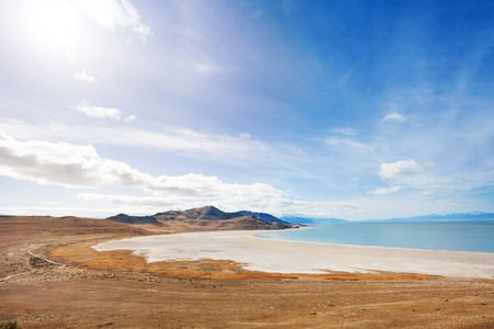 Lakeside of Great Salt Lake on Antelope Island