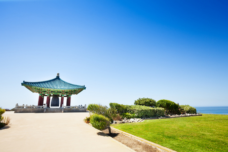 Beautiful Korean Bell of Friendship at sunny day Stock Photo