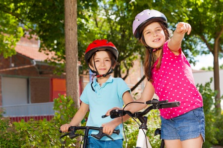 Little bike riders looking for direction in city