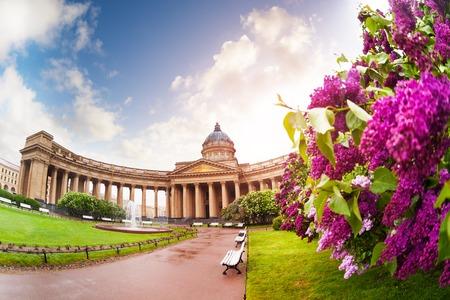 Kazan Cathedral in Saint Petersburg, Russia Stock Photo