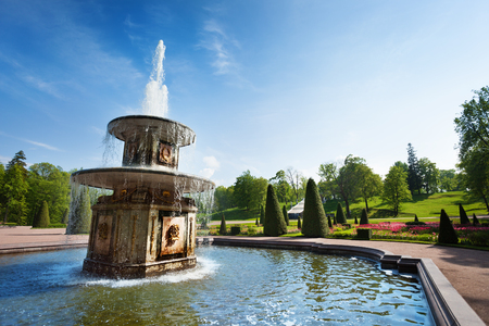 Roman fountains in the Lower Park of  Peterhof