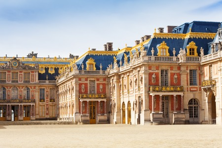 Marble courtyard at Palace of Versailles, France 写真素材