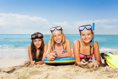 Three girls at summer vacation
