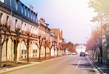 Chantilly cityscape at sunny day, Oise, France