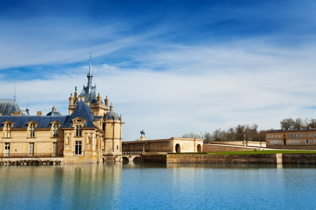 Beautiful view of Chateau de Chantilly in France