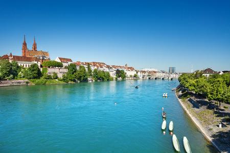 Basel waterfront seen from Wettstein bridge