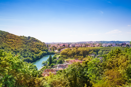 Lovely Besancon landscape with the Doubs River Stock Photo - 94420036