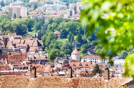 Beautiful cityscape of Besancon in summer, France Stock Photo